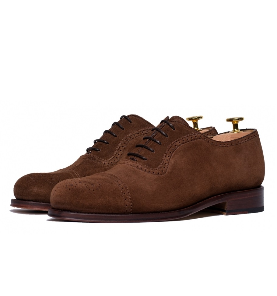 oxfords-shoes-suede-snuff-semi-brogue-quarter-legate-versatile-ligth-brown