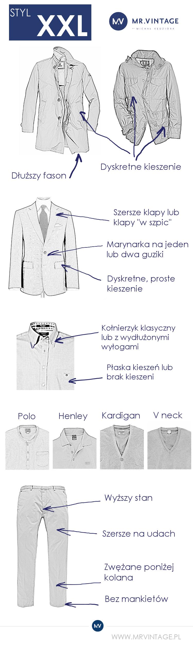 Koszule dla wysokich, niskich, szczupłych i dużych Koszula