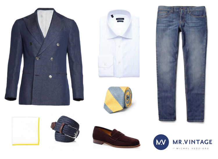 a93b31b41b146 Jak połączyć dżinsy z marynarką? | Mr Vintage - rzeczowo o modzie męskiej -  Porady i Blog