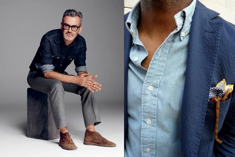 Koszula dżinsowa coraz bardziej elegancka | Mr Vintage  AwHwB