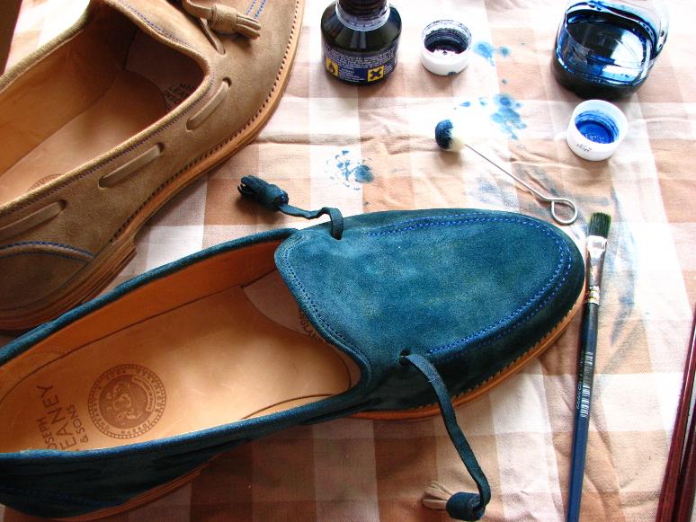 MrVintage Malowanie butów zamszowych 10