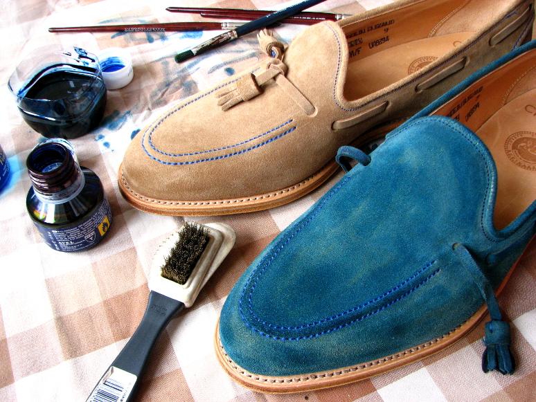 MrVintage Malowanie butów zamszowych 12