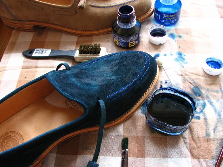 MrVintage Malowanie butów zamszowych 13