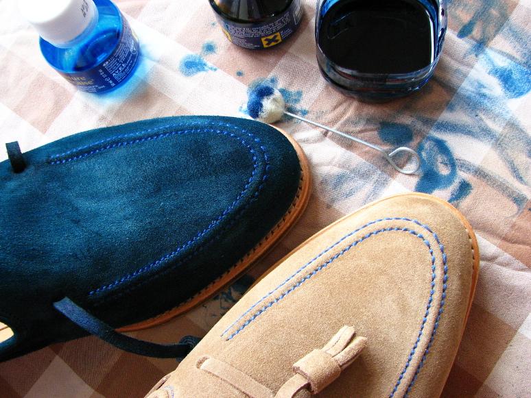 MrVintage Malowanie butów zamszowych 14