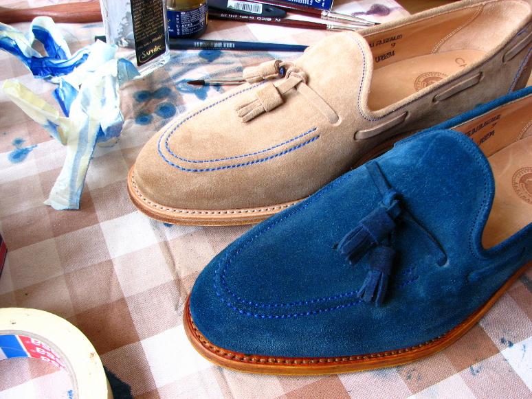 MrVintage Malowanie butów zamszowych 17