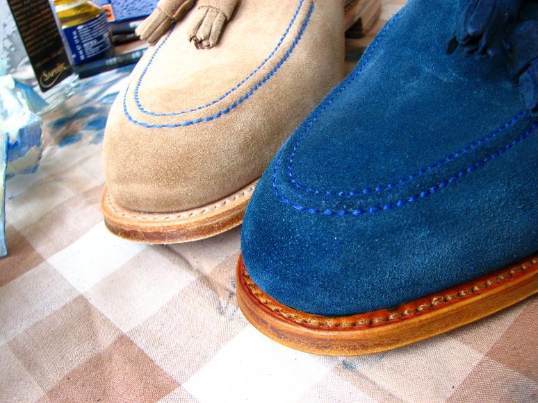 MrVintage Malowanie butów zamszowych 18