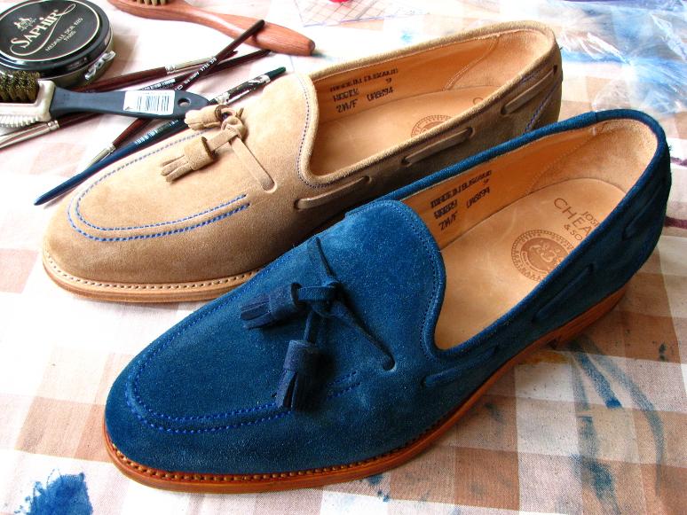 MrVintage Malowanie butów zamszowych 21