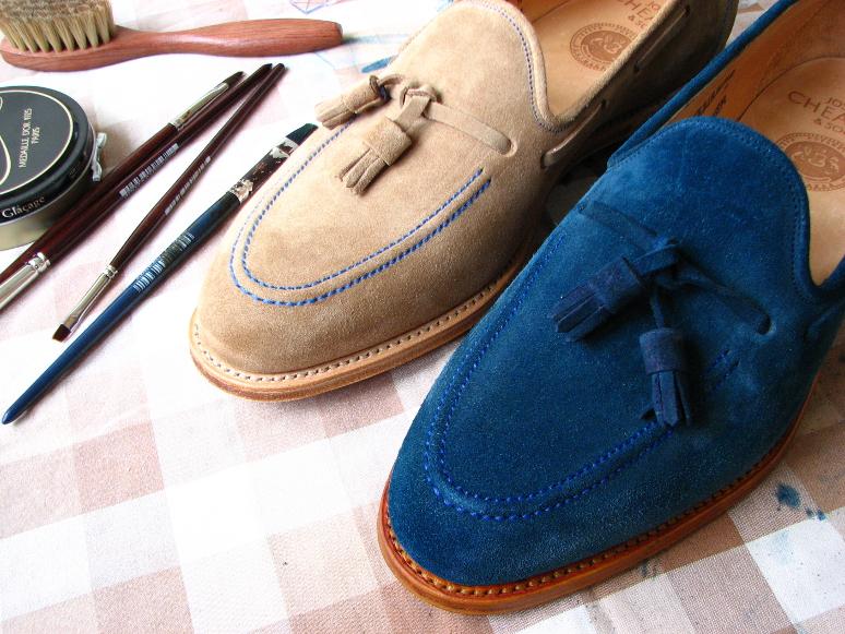 MrVintage Malowanie butów zamszowych 22