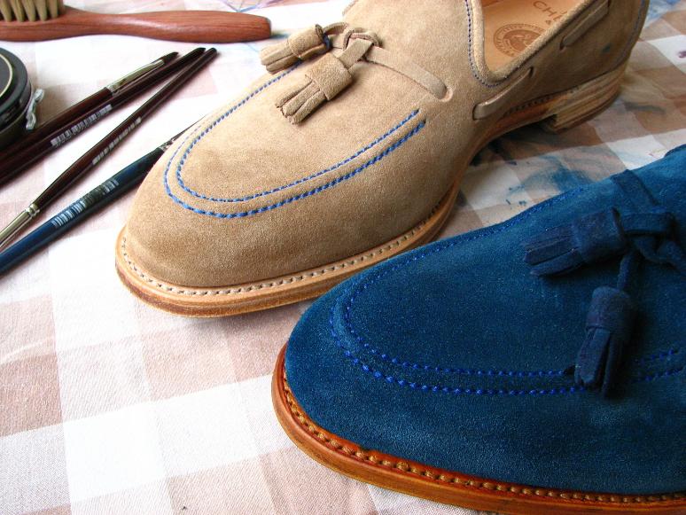 MrVintage Malowanie butów zamszowych 23