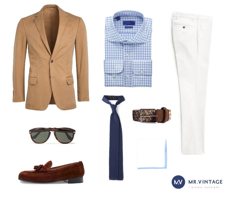 białe spodnie mrvintage