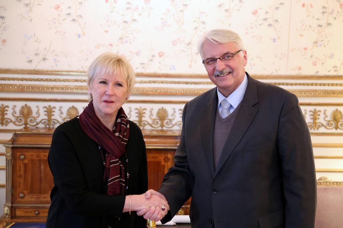 Margot Wallstrom och Witold Waszczykowski 2