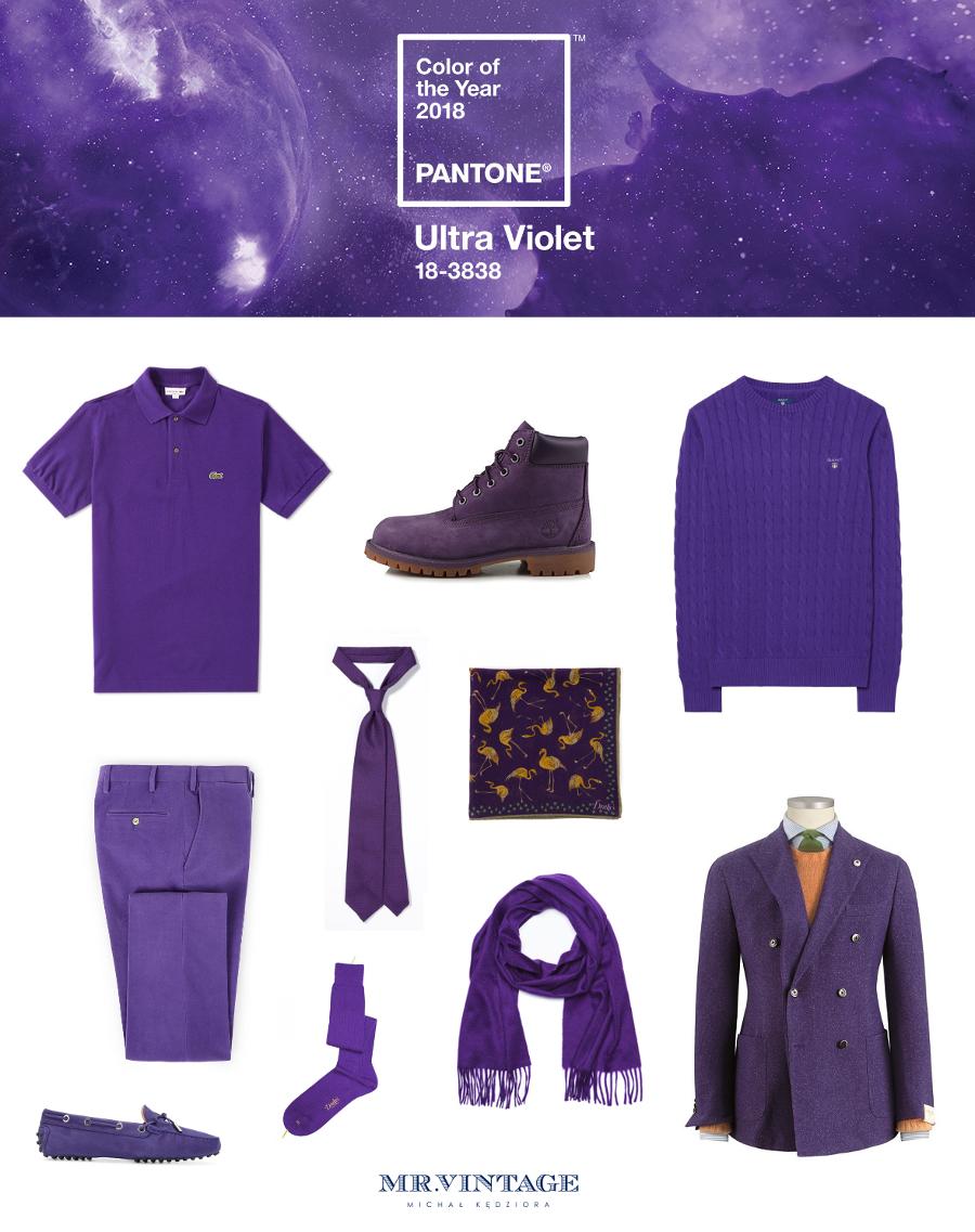 85e6f3a6383c2 Ultra fiolet – kolor roku 2018 Pantone, a moda męska | Mr Vintage ...