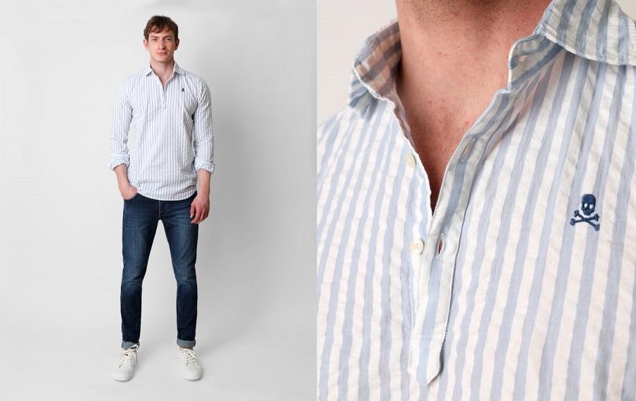 Koszula w prążek niekoniecznie biznesowa | Mr Vintage  CT5bp